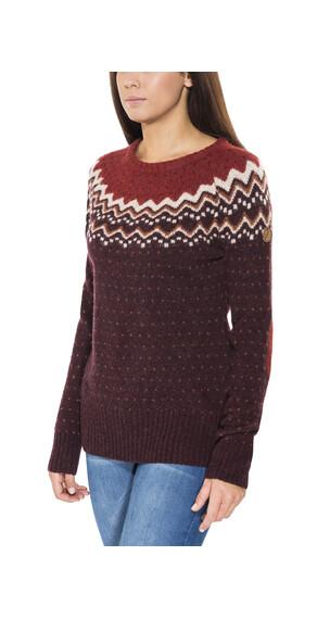 Fjällräven Övik Knit Sweater Women Dark Garnet